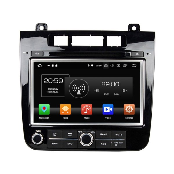 "4GB RAM 64GB ROM Octa Core 2 din 8"" Android 8.0 Car DVD Radio GPS for VW Volkswagen Touareg 2010-2014 With Bluetooth WIFI USB Mirror-link"