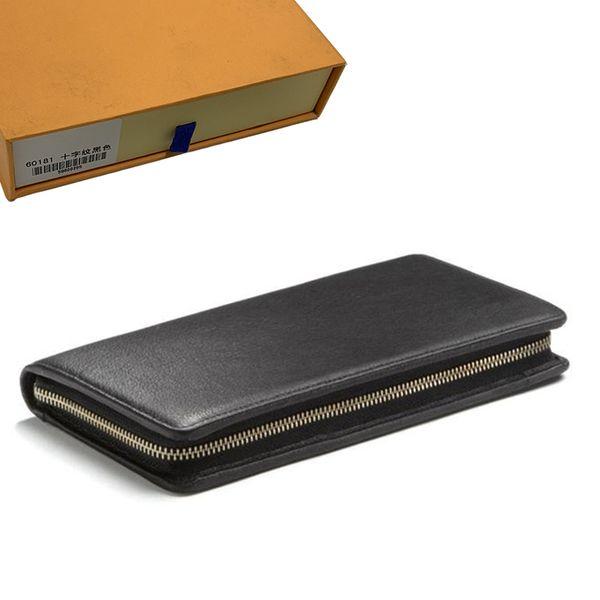 best selling Wallets Mens Wallet Purse Zippy Wallet Men Long Wallets Fold Card Holder Passport Holder Women Long Folded Purses Photo Pouch 47-53