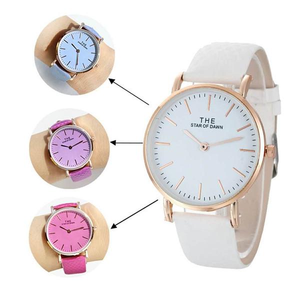 Модный бренд простые часы женщины обесцвечивают часы дамы Кварцевые наручные часы женщины меняют цвет на Солнце