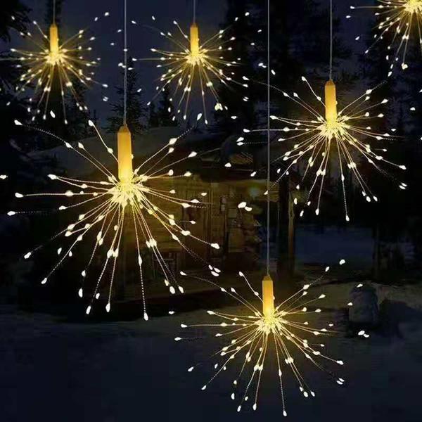180 Led Fireworks light Lamp for wedding party decoration 8 Mode LED String Lights Remote Control DIY Decor Party Light for hotel Bar garden