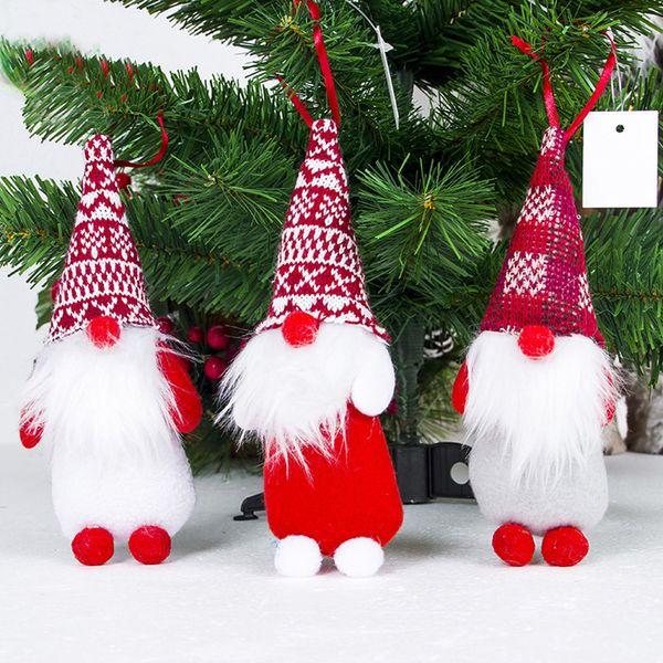 Compre 2020 Feliz Natal Enfeites De Natal Presente Papai Noel Boneco De Neve árvore Boneca De Brinquedo Pendurar Decorações Para Casa Enfeites De