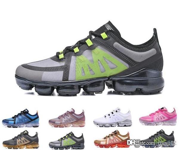 Alta Qualidade Com Caixa de nike air vapormax 2019 ap Ocasional ou Sapatos TN Plus Men Mulher Choque Sapatos casuais Executar Utilitário Moda Mens senhoras Tênis esportivos