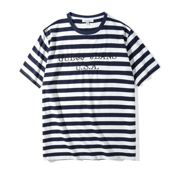 Camisetas de rayas para hombre Verano Moda Bordado Diseñador Camisetas Manga corta Tops Ropa