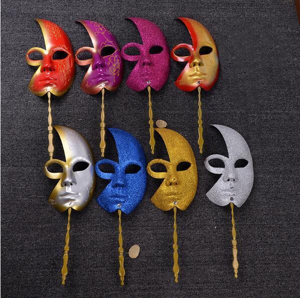 Nouveau Masque Carnaval 50pcs de Venise sur un bâton hommes et des femmes du Parti mascarade Masques de Dress Up Cosplay Livraison gratuite