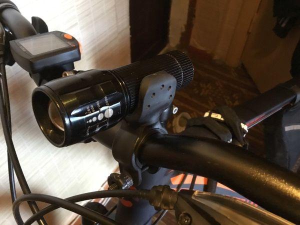 Bike Bicycle Cycling Led Flashlight Holder Front light Mount Clip Bracket