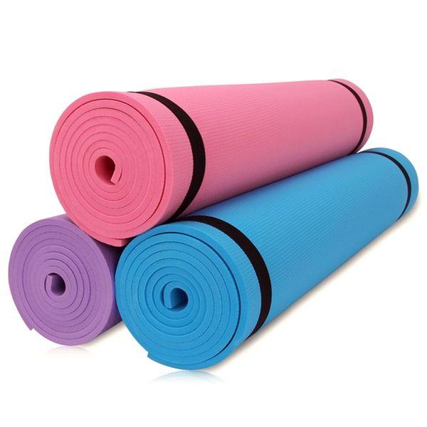 Yoga Mat 6mm Exercise Mat Gym Fitness Pilates Workout Mat Non Slip Carry Case