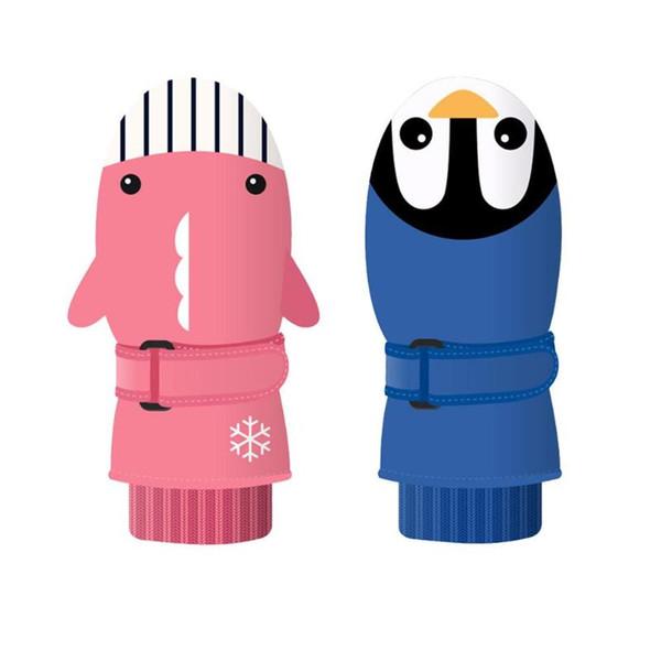 겨울 열 스노우 보드 스키 장갑 장갑 방수 따뜻한 눈 야외 안티 슬립 어린이 어린이 만화 장갑
