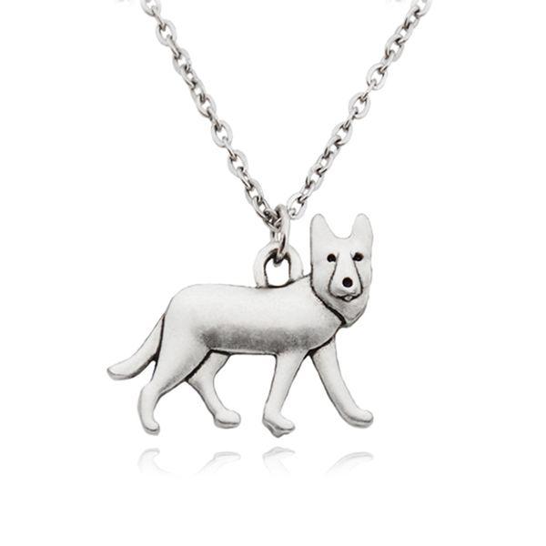 Deutsch schäferhund charme anhänger aussage halskette choker für frauen männer pet schmuck pet liebhaber party geschenk lange kette edelstahl