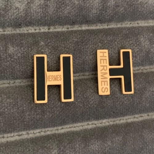 best selling 2019 deluxe High Quality Fashion Design brand titanium steel rose gold silver black letter H C A B earrings for Women girls