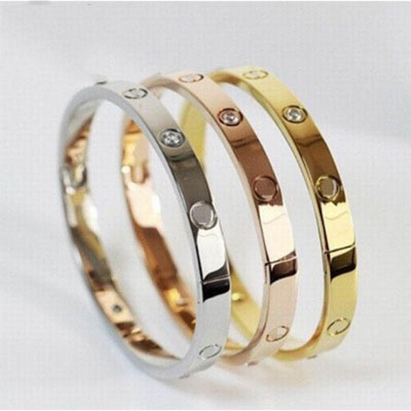 Love Indian Bangles for Women Gold Overlay Couple Cuff Bracelets Fashion Bohemian Femme Pulseiras Wedding Jewelry 3 Colors Cheap