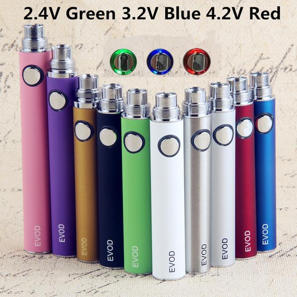 EVOD Preriscaldare VV vaporizzatore Batteria 1100 900 650mAh sigaretta elettronica 510 eGo Discussione Vape penna USB Charger fit E-Cig eGo-T MT3 CE4 CE5