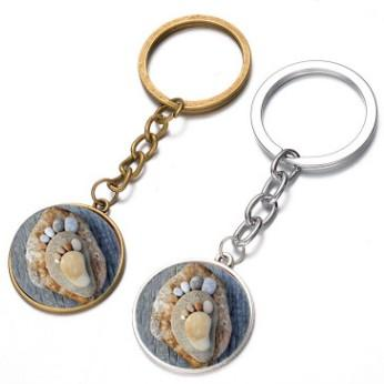STONE ROCK SHAPE CUTE ADULT BABY FOOT PENDANT KEYCHAIN KEYRING AWESOME KEY ACCESSORIES KEY CHAIN KEY RING SUPER HOT UNISEX BAG ACCESSORIES