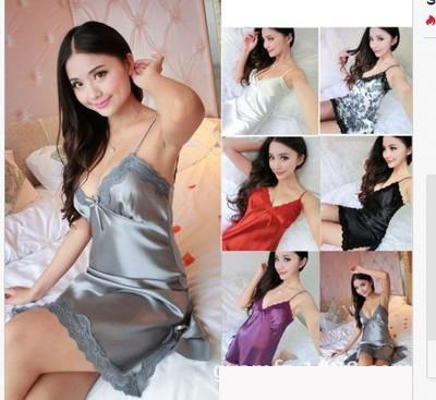 Sexy Women Lace Sleepwear Mini Nightgown Sling Lace Home Seamless Lingerie NightDress 6 Color M-3XL Plus Size