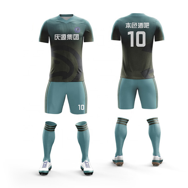 6bae8ae23 Custom team Men and boys soccer uniforms Training football Jerseys shirts  2017 Sports Wear Breathable Running