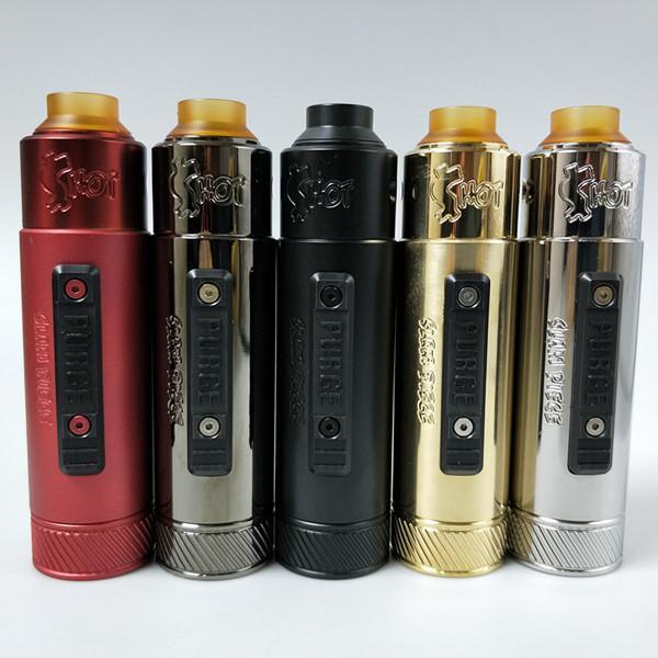 e cigarette mechanical mod kit purge slam piece mod with rda clone 20700 21700 18650 vape mech mod