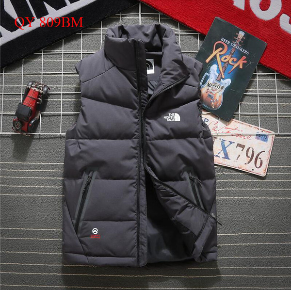 best selling 2019 The North New north Winter men's Down puffer jacket Casual Brand Hoodies Down Parkas Warm Ski Mens face vest