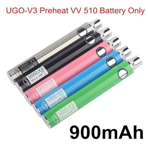 Autêntico UGO V3 Pré-aquecimento VV 900mAh