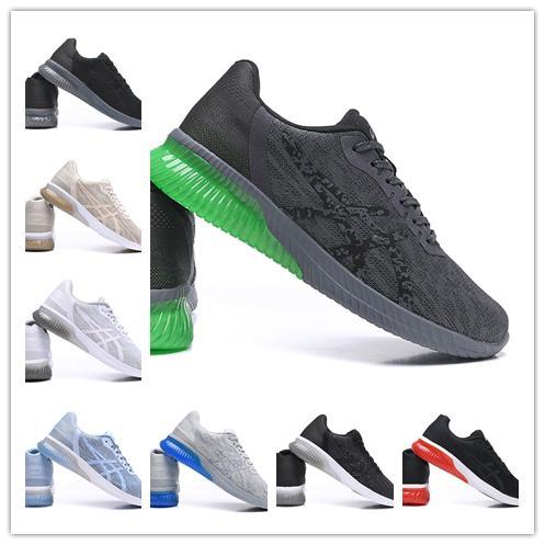 Best Asics Gel-KENUN T7C4N-9590 Tasarımcı Koşu Ayakkabı Siyah Yeşil Orijinal Erkek Kadın Atletizm Sneakers Spor Ayakkabı Çizmeler Yürüyüş 36-45