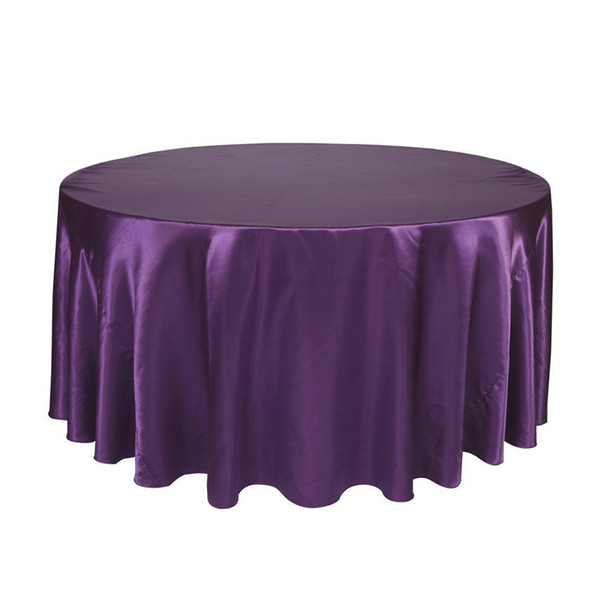 ome Textile Cloth Round Table Cloth Topper Tablecloth Luxury Polyester Satin Table Cover Oilproof Wedding Party Restaurant Banquet Home ...