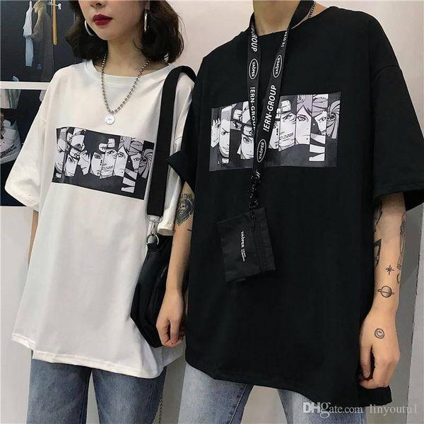 Наруто Прохладный майк Новый мужской японский аниме Tshirt Street Wear Лето большого размер с коротким рукавом футболки для мужчин