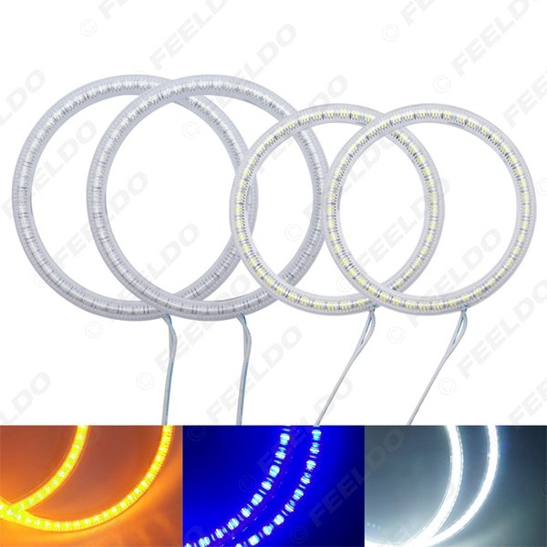 3-Color 4pcs / Set LED Halo anneaux Car Angel Eyes DRL Tête de lampe pour Hyundai Coupé / Tiburon # 4353