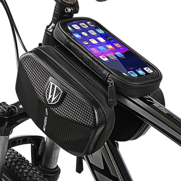 Dağ Bisikleti Ön Çerçeve Çanta Yağmur suyuna dayanıklı su geçirmez Ön Çanta Cep Telefonu Kılıfı Bisiklet Üst Tüp Çanta Açık Bisiklet