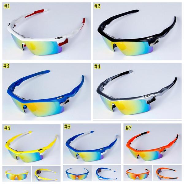 Lunettes de soleil polarisées Hot Sports Eyewear UV400 Lunettes de soleil pour femmes Lunettes de protection contre le vent, Lunettes de soleil à vélo avec 5 lentilles MMA1666