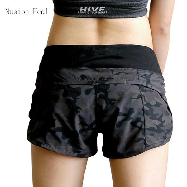 Nusion Heal Womens Running Shorts 2 In 1 Running Tights Short Women's Gym Cool Woman Sport Short Fitness Ladies Running Shorts C19041101