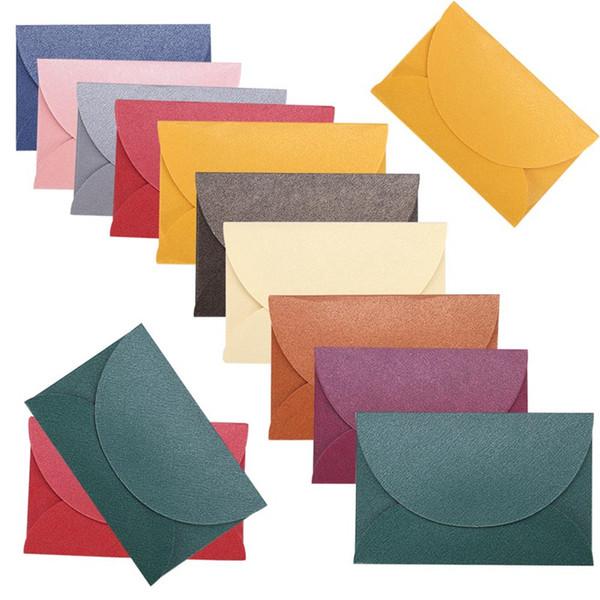 10pcs/lot Handmade Mini Envelopes Vintage Colored Pearl Paper Envelope Wedding Invitation Envelope Christmas Gift