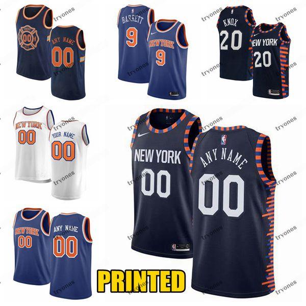 info for 27e18 98bc9 2019 Printed New York RJ Barrett 9 Knicks Kevin Knox 20 Frank Ntilikina 11  Mitchell Robinson 26 Customize City Basketball Jersey From Tryones, $24.02  ...