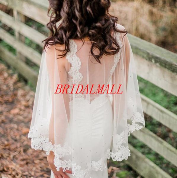 Appliqued Bridal Lace Wraps White Ivory Wedding Cape, Bridal Lace Capelet, Bridal Cape, Wedding Bolero, Custom Tulle Wedding Jackets