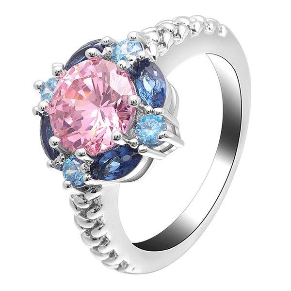 لون الحجر الرئيسي: الوردي