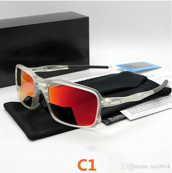 Fahrradbrillen NEU Herren Sport Trigger Herren Sonnenbrille TR90 FRAME ROVO polarisierte Linse oculos ciclismo gafas de sol mit vollständigem Etui 9266