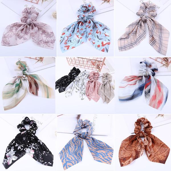 36 Farben Bogen Luftschlangen Haar Ring Mode Band Mädchen Haarbänder Haargummis Schachtelhalm Krawatte Solide Headwear Haarschmuck 20 teile / los