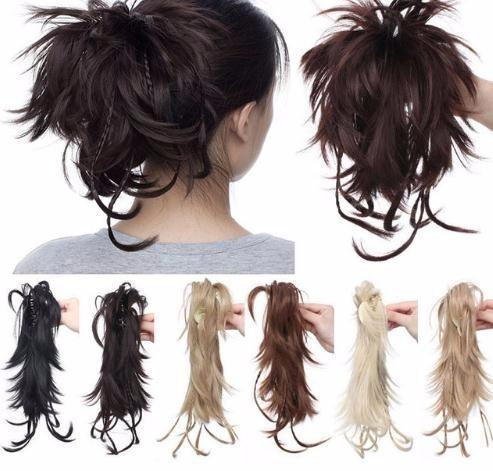 """12"""" Synthetic Diy Hair Black Blonde Brown Braids Claw On Ponytail Clip In On Extensions Ponytail Hairpieces"""