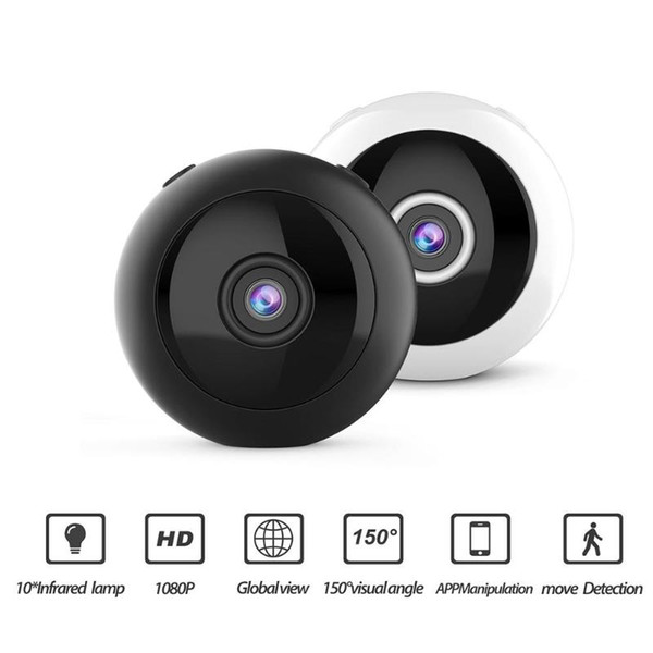 W8 HD 1080P Mini cámara wifi Infrarrojo Visión nocturna Micro cámara Vídeo IP inalámbrico Cámara Detección de movimiento DV DVR Videocámara pequeña