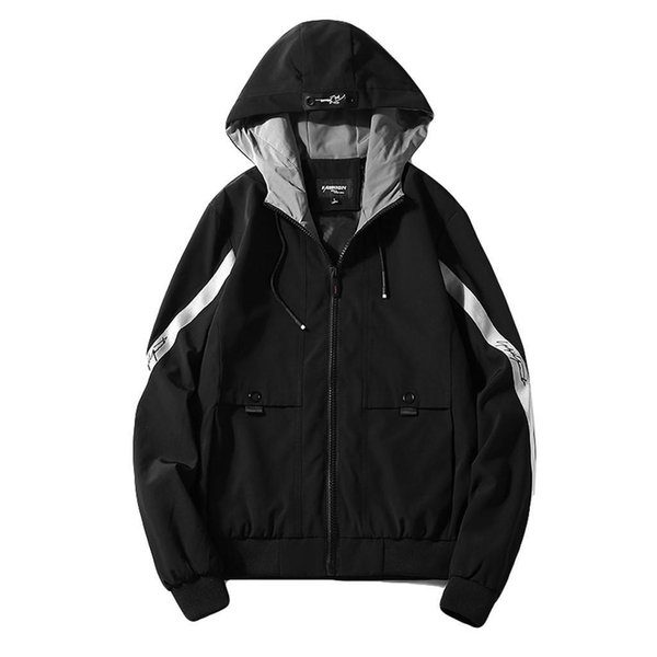 Feitong Men Jacket Spring Windbreaker Fashion Casual Hooded Patchwork Summer Mens Clothing Sports Streetwear Jacket Male Nice