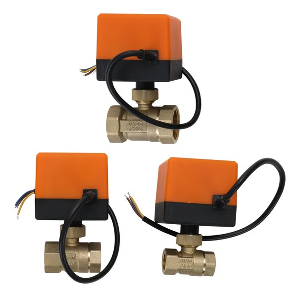 Motorized Ball Valve DC12V 2 Way 3-Wire Brass Electric Actuator Thread Air-conditioning Water System Controller