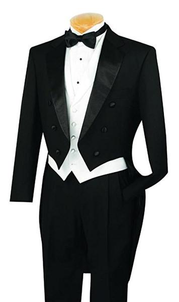 Tailcoat/Morning Style Groomsmen Notch Lapel Groom Tuxedos Men Suits Wedding/Prom/Dinner Best Man Blazer ( Jacket+Pants+Tie+Vest) G111