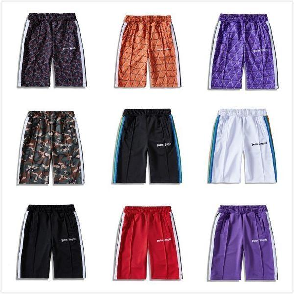 19ss palm angels mode pantalons courts rétro plaid lettrage et rayures rayures homme et femme shorts de haute qualité HFBYDK015