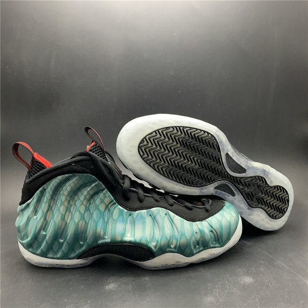 New Official Penny Hardaway Dark Emerald Black Challenge Red Basketball Designer Shoes Fashion One Foam Gone Fishing Trainers Ship With Box