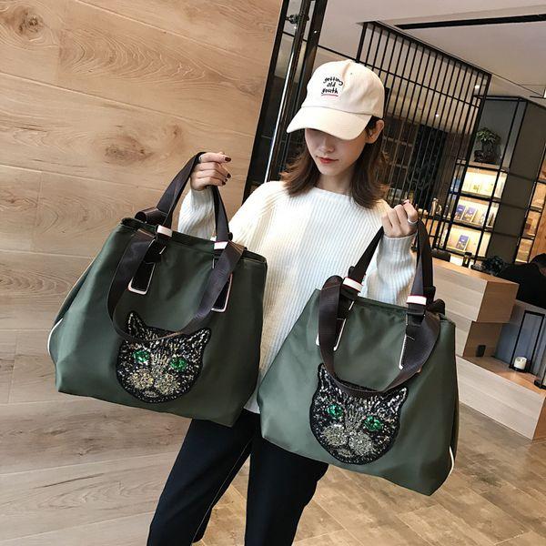 Classique Sac fourre-tout Cat Head Designer de luxe Sacs à main Sacs à main en nylon femmes épaule Voyage Sacs à main shopping