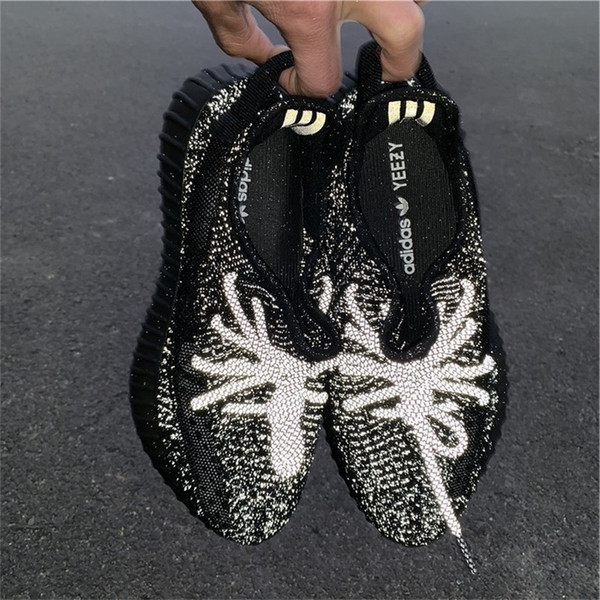 fb6b4092 2019 ADIDAS YEEZY 350 V2 Boost Static 2.0 Black Gypsophila Men Women  Sneakers Kanye West 3M