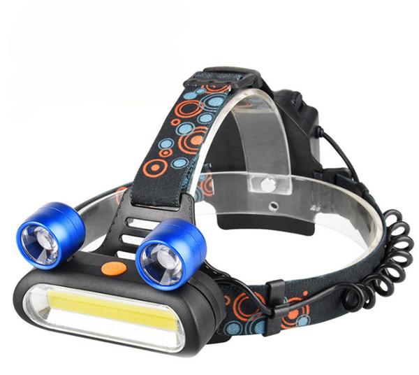 Fari a LED Lampada di ricarica COB con ricarica USB per illuminazione esterna fari potenti