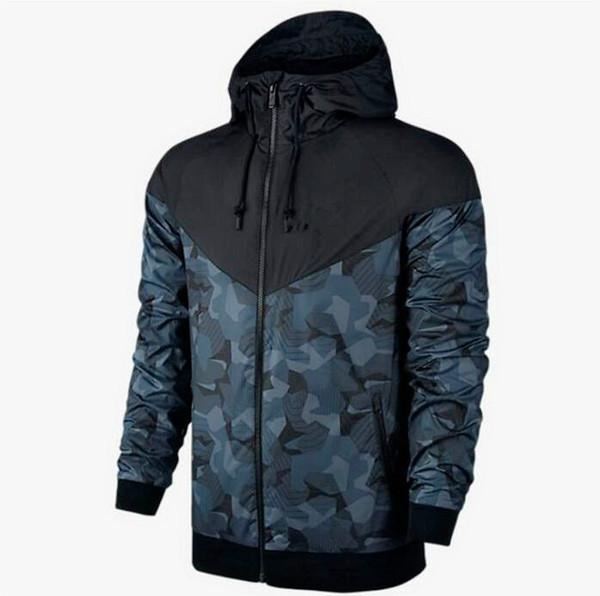 nike Camouflage concepteur de marque hommes veste veste zippée à capuchon hiver camo extérieur coupe-vent vestes et manteaux NKJ5 nouvelle mode
