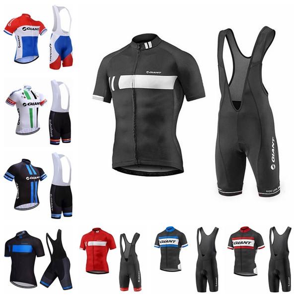Été style 2019 GIANT vélo jersey cuissard ensemble VTT vêtements de vélo respirant vêtements de vélo hommes manches courtes vélo Jersey K040306