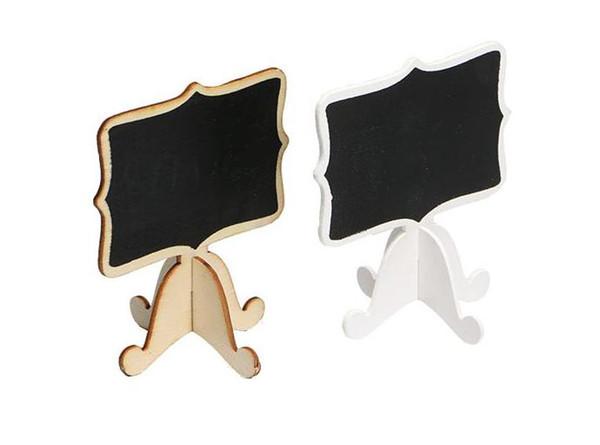 best selling 50 Pcs Mini Wooden Small Wedding Blackboard Message Table Number Chalkboard Zakka Wooden Mini Blackboard Set For Wedding Party