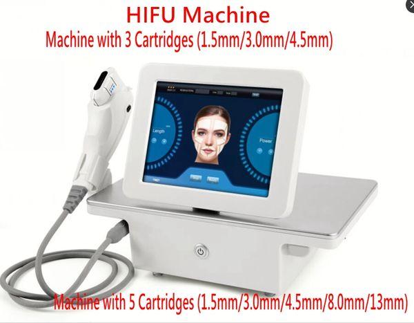 Ascenseur de visage focalisé de forte intensité de machine d'ultrason de Hifu de tension serrant la machine anti-vieillissement avec 3 cartouches ou 5 cartouches