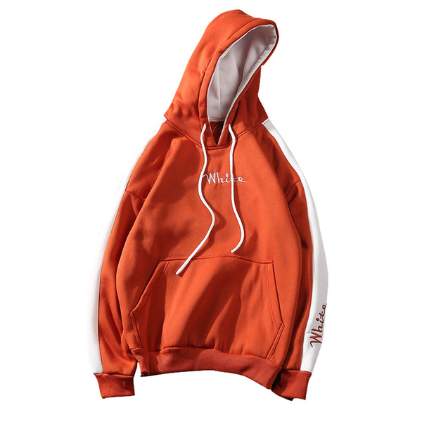2019 Autumn Winter White Hoodies Men Sweatshirts Hooded Casual Male/women Street Wear Hip Hop Fashion Long Sleeve Warm Pullover