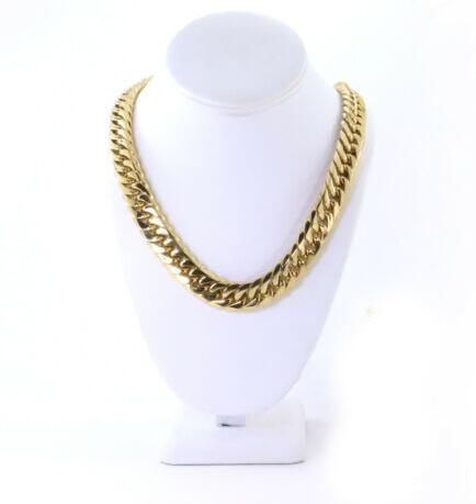 SOLID 14K YELLOW GOLD FINISH THICK HEAVY MIAMI CUBAN TIGHT LINK CHAIN 16MM